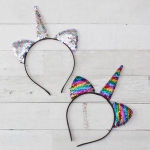 Other - NWT! Flip Sequin Boutique Unicorn Headbands